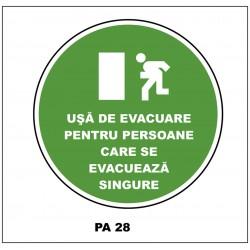 Indicator Usa de evacuare