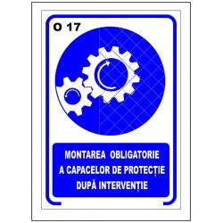 Montarea obligatorie a capacelor de protectie dupa interventie