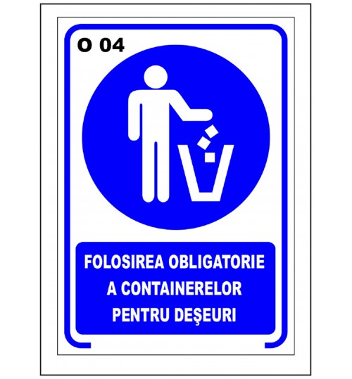 Folosirea obligatorie a containerelor pentru deseuri