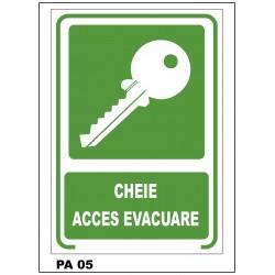 Cheie acces evacuare