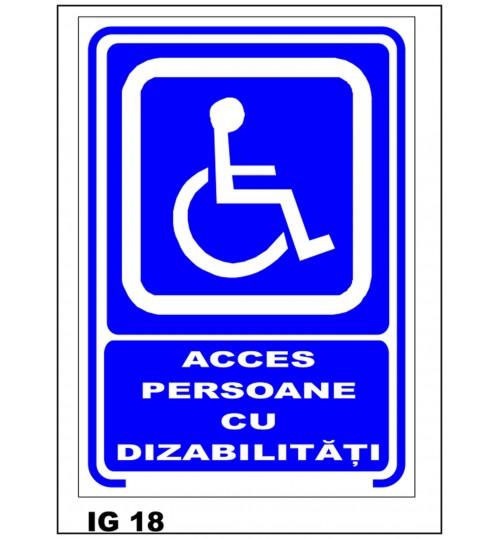 Acces - Persoane cu dizabilitati