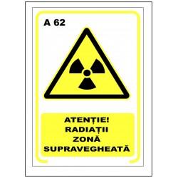 Atentie radiatii zona supravegheata