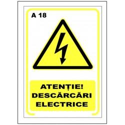 Atentie descarcari electrice