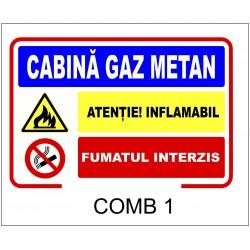 Panou avertizare Cabina gaz metan